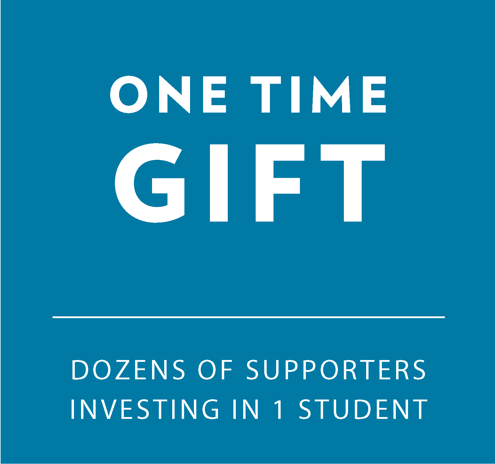 One time Gift: Dozens of Supporters Investing in 1 student