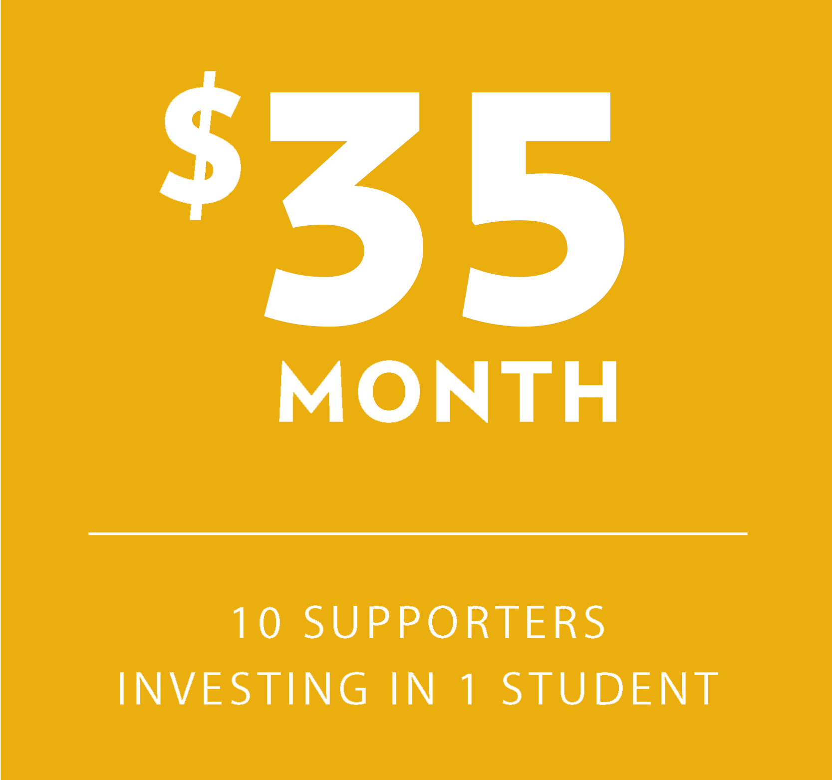 $30 10 givers Investing in 1 student